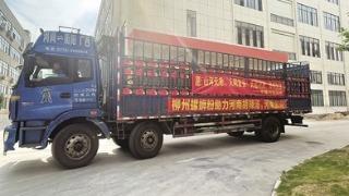 13690箱柳州螺蛳粉和24000瓶矿泉水发往河南