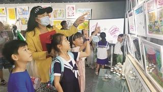 我市462人在全国中小学生绘画书法作品比赛中摘金夺银